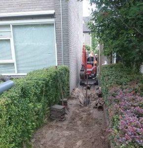 rioolvervangingsproject door loonbedrijf mulder